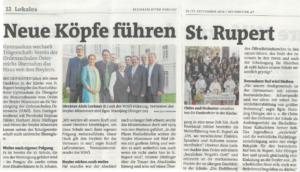 Neue Köpfe führen St.Rupert